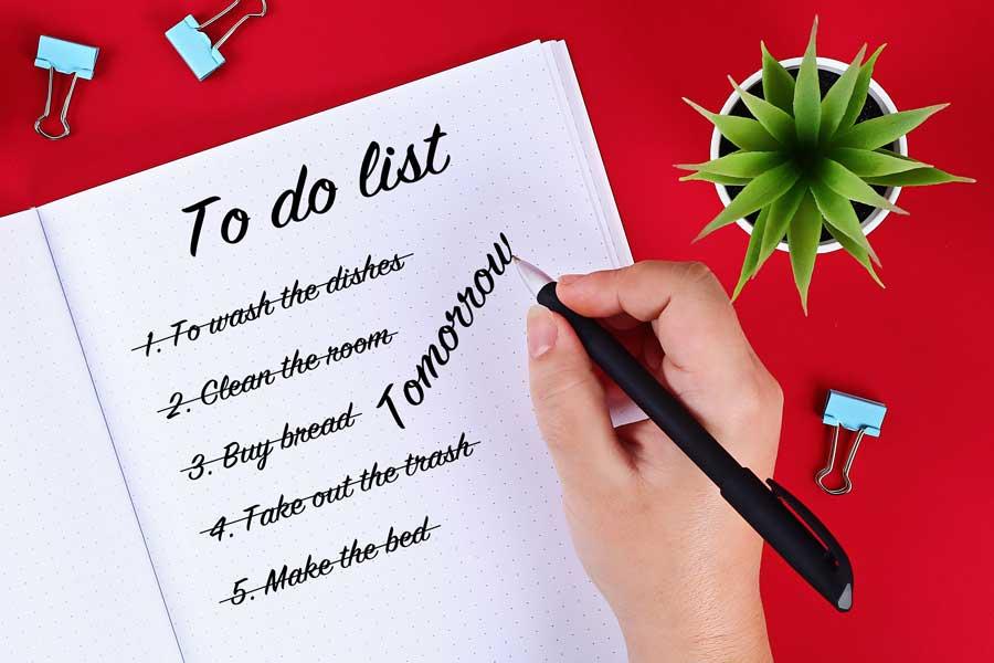 רשימת דברים שצריך לעשות