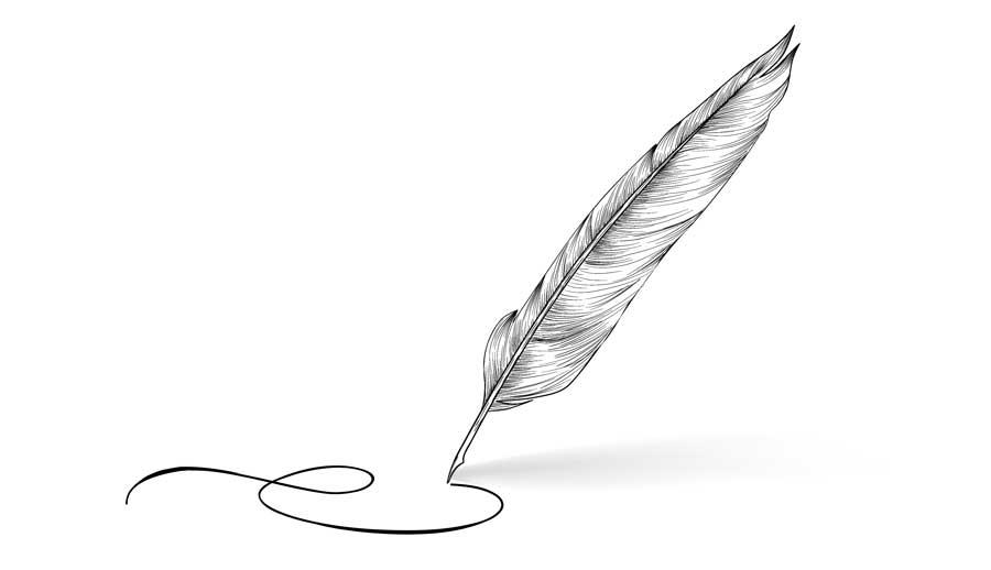 איור של עט נוצה